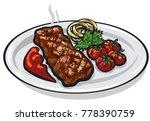 illustration of grilled roasted ... | Shutterstock .eps vector #778390759