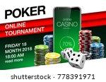 illustration online poker... | Shutterstock .eps vector #778391971
