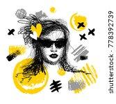 fashion poster trendy art... | Shutterstock .eps vector #778392739