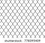 seamless texture metal wire... | Shutterstock .eps vector #778395409