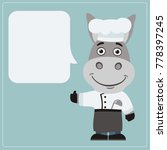 Chef Donkey With Speech Bubble...