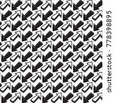abstract black and white arrow... | Shutterstock .eps vector #778398895