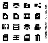 origami style icon set   search ... | Shutterstock .eps vector #778402585