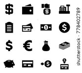 origami style icon set   dollar ... | Shutterstock .eps vector #778402789