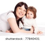 happy family  young beautiful... | Shutterstock . vector #77840431