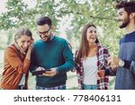 group of young people in park...   Shutterstock . vector #778406131