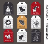 set of labels for christmas ... | Shutterstock . vector #778408549
