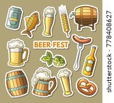 set of different colored beer... | Shutterstock . vector #778408627