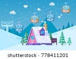 ski resort snow mountain... | Shutterstock .eps vector #778411201