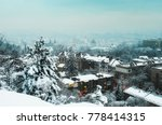 winter panorama and aerial view ... | Shutterstock . vector #778414315