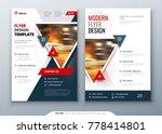 flyer template layout design.... | Shutterstock .eps vector #778414801