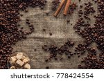 Top View Of Roasted Coffee...