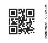 qr code icon vector | Shutterstock .eps vector #778425625