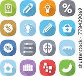flat vector icon set   report... | Shutterstock .eps vector #778429069
