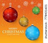 christmas light vector... | Shutterstock .eps vector #778431601