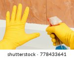 hand showing stop mold in... | Shutterstock . vector #778433641