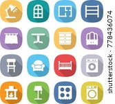 flat vector icon set   table... | Shutterstock .eps vector #778436074