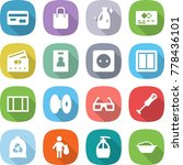 flat vector icon set   card... | Shutterstock .eps vector #778436101