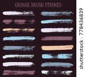 modern watercolor daubs set ... | Shutterstock .eps vector #778436839