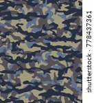 abstract camouflage pattern.... | Shutterstock .eps vector #778437361