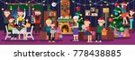 happy new year. holiday family...   Shutterstock .eps vector #778438885