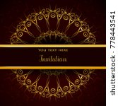 luxury invitation template with ... | Shutterstock .eps vector #778443541