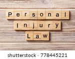 personal injury law word... | Shutterstock . vector #778445221