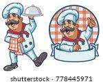 cartoon set of happy chef | Shutterstock .eps vector #778445971