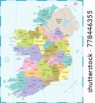ireland map   high detailed... | Shutterstock .eps vector #778446355
