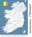 ireland map and flag   high... | Shutterstock .eps vector #778446367