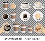set of to go and takeaway paper ... | Shutterstock .eps vector #778448764