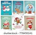 vintage christmas poster design ... | Shutterstock .eps vector #778450141