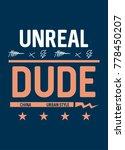 china unreal dude t shirt print ... | Shutterstock .eps vector #778450207