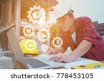 unsafely engineering holding...   Shutterstock . vector #778453105