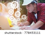 unsafely engineering holding...   Shutterstock . vector #778453111