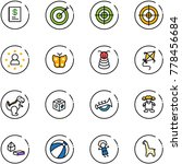 line vector icon set   annual... | Shutterstock .eps vector #778456684