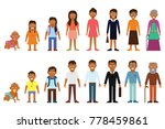 set of african american ethnic... | Shutterstock .eps vector #778459861