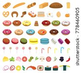 set of products for healthy... | Shutterstock . vector #778460905