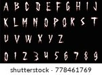 white horror font with red... | Shutterstock .eps vector #778461769