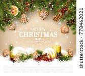 christmas card with fir... | Shutterstock .eps vector #778462021