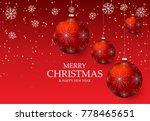 christmas light vector... | Shutterstock .eps vector #778465651