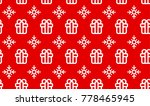 christmas pattern seamless... | Shutterstock .eps vector #778465945
