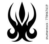 tattoo tribal vector design.... | Shutterstock .eps vector #778467619