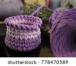 crochet basket with t shirt yarn | Shutterstock . vector #778470589