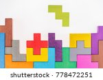 different colorful shapes... | Shutterstock . vector #778472251