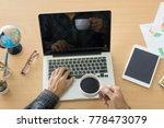 business man working on laptop...   Shutterstock . vector #778473079