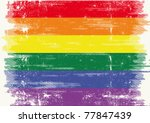 a grunge gay flag with a... | Shutterstock .eps vector #77847439
