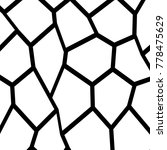 black and white irregular grid  ... | Shutterstock .eps vector #778475629