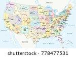 us interstate highway ... | Shutterstock .eps vector #778477531