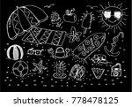 summer beach  sketch   Shutterstock .eps vector #778478125